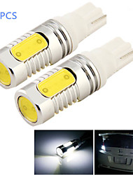 2pcs 8W T10 800lm 4-Pfeiler geführte 6000k Weißlicht LED Auto-Birnenlicht (DC 12V)