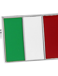 Italian flag French shirt cufflinks cuff nail