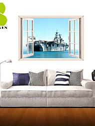 Arquitectura / Militar / Historia / Paisaje / Formas / Transporte Pegatinas de pared Calcomanías 3D para Pared , PVC