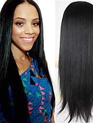 Cheap Italian Yaki African American Wig Brazilian Virgin Remy Human Hair Yaki Straight Lace Front Wigs For Black Women