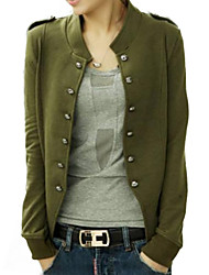 Women's Blue/Black/Green Jacket,Long Sleeve