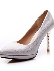 Women's Shoes Stiletto Heel Comfort / Pointed Toe Heels Wedding / Outdoor / Dress / Casual Black / Silver / Gold
