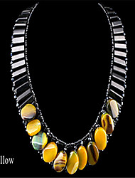 European and American Fashion Pure Manual Wear Bead Natural Agate Short Necklace NK-01345
