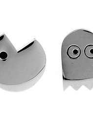 Pac-Man ghost games plated white steel black French shirt cufflinks cuff nail Christmas Gifts