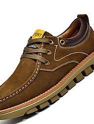 Men's Shoes Outdoor / Office & Career / Work & Duty / Athletic / Casual Suede Oxfords Blue / Brown / Khaki