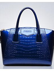 Women PU Baguette Shoulder Bag - Blue