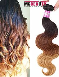 """1 pc / lot 16 """"-24"""" 7a 3t brasilianische reine Haarkörperwellen-Menschenhaareinschlagfäden 100% unverarbeitetes brasilianisches remy Haar"""