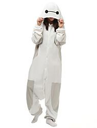 Kigurumi Pijamas Desenhos Animados Malha Collant/Pijama Macacão Festival/Celebração Pijamas Animal Branco Cor Única Lã Polar Kigurumi Para