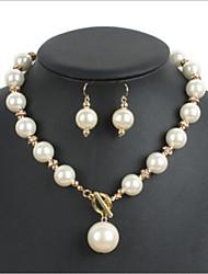 Women's Imitation Pearl / Alloy / Rhinestone Jewelry Set Imitation Pearl / Rhinestone