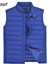Lesmart Men's Casual Winter Thincked Quilted Sleeveless Outerwear Polyester Wadding Padded Jacket Loose Warm Sport Vest