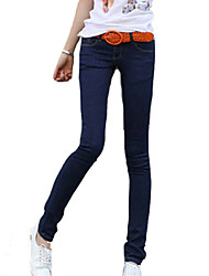 Women's Casual All Match Low Rise Slim Pencil Demin Pants
