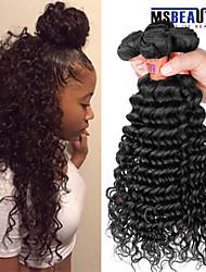 """4 pièces / lot 8 """"-28"""" malaisien cheveux vierges profonde ondes trames de cheveux humains 8a 100% cheveux remy malaisienne non transformés"""