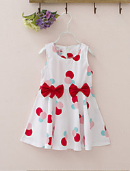 Girl's Casual/Daily Polka Dot Dress,Cotton Summer Sleeveless