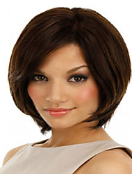 High Quality And Cheapest Price Dark Brown  Short  Syntheic  Wig Extensions