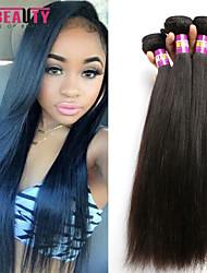 """3 unidades / lote 8 """"-30"""" 7a malaio virgens extensões de cabelo em linha reta 100% cabelo humano virgem não transformados tece"""