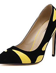 Women's Shoes Fleece Stiletto Heel Pointed Toe Heels Wedding / Party & Evening / Dress Yellow / White