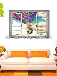 3D Wall Stickers Wall Decals, Hot Air Balloon Decor Vinyl Wall Stickers