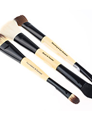 3pcs Double Ended Makeup Brush Set Fashion Professional Cosmetic Make Up Tools Brushes Sets Kits