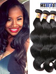 """3 unidades / lote 8 """"-20"""" virgem malaio onda corpo trama cabelo cabelo 100% cabelo humano remy não transformados 8a tece"""