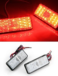 2x Car Auto Vehicle Red Square Brake Stop Tail Rear Light Lamp Bulb High Power
