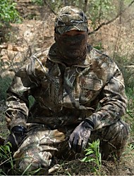 Men Outdoor Camouflage Winter Thicken Cotton Jacket Coat Hunting Fishing Suits (Jacket + Trousers + Peak Cap+Surface)