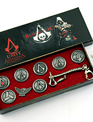 Jewelry / Badge Inspired by Assassin's Creed Cosplay Anime/ Video Games Cosplay Accessories Badge / Brooch / More Accessories Silver Alloy