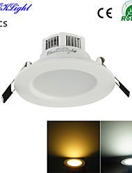 3W Einbauleuchten 6 SMD 5730 300 lm Warmes Weiß / Kühles Weiß Dekorativ AC 220-240 / AC 110-130 V 1 Stück