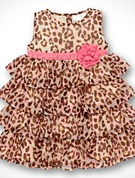 Girl's Animal Print Dress,Animal Print / Floral / Dresswear Polyester Summer