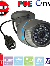 cctv sony cms 24pcs LED IR-cut coperta proiettile poe videocamera di sicurezza IP di 2.0MP 1080p rete p2p ip camera di sicurezza
