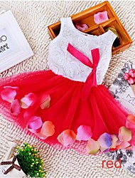 Sweet Girl Kids Flower Princess Party Lace Bow-knot Chiffon Dress Gown Wedding Prom Dress
