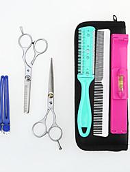 семь сложены ножницы ножницы пакет порезы зубы сократить плоский инструмент домой Парикмахерские гребень клип костюм