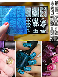 Nail Polish Scraper Art Lace Stamping Image Plates Set Manicure Stencil Tool