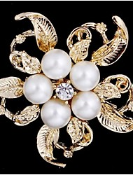 D Exceed New Arrival Exquisite Bouquet Flower Brooch Pins Girlfriend Gift Fashion Brooch Imitation Pearl Jewelry