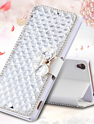 For Sony Case / Xperia Z3 Card Holder / Rhinestone / with Stand / Flip Case Full Body Case 3D Cartoon Hard PU Leather for SonySony Xperia