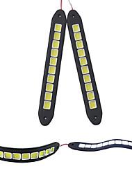 2pcs silicone flexible imperméable à l'eau 10 a conduit 10w épi 26cm 600lm lumière blanche conduit la lumière diurne (DC12V)