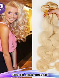 """3 PC sortean 12 """"-24"""" pelo # 613 del cuerpo de onda virginal baratos paquetes brasileña del pelo humano de la venta caliente."""