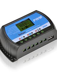 10a 12v / 24v cargador de batería del panel regulador regulador solar con usb lcd pwm