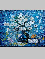 Hand-Painted Abstract Landscape Modern Blooming Flowers Knife Oil Painting On Canvas Ready To Hang One Panel 80x120cm