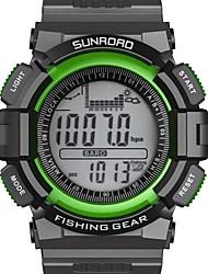 Herren Armbanduhr digital LCD / Höhenmesser / Thermometer / Chronograph / Wasserdicht / Duale Zeitzonen / Sportuhr ABS Band Schwarz Marke-