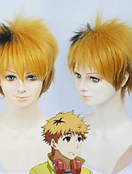 Top Quality  Cosplay Yellow  Color  Short Syntheic  Wig