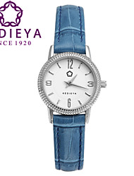 KEDIEYA Japan Quartz Blue Watch Brand Watches Women Leather Strap Fashion Pyramid Bezel Watch  Watches for Women Cool Watches Unique Watches