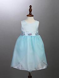 Girl's Blue Dress,Ruffle Cotton Summer