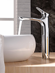 Brass Chrome Finish Bathroom Sink Faucet Single Handle Tall Tap