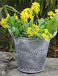 Garden Decorative Flower Pot Creative Home Furnishing Landing Retro Do Old Tin Ornaments