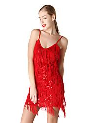 Danse latine Robes Femme Spectacle Elasthanne 1 Pièce Sans manche Robe