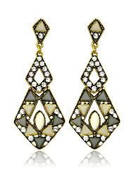 Drop Earrings Crystal Imitation Diamond Gemstone Crystal Imitation Pearl Agate Gem Resin Rhinestone Simulated Diamond AlloyStatement