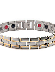 Healing Magnetic Bracelet Men 316L Stainless Steel 3 Health Care Elements(Magnetic,FIR,Germanium) Bracelet Hand Chain