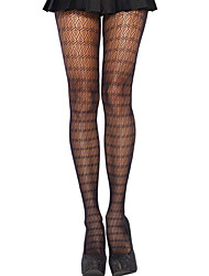 Women Lace Pantyhose Stockings Floral Pattern Hollow Out High Waist Tights