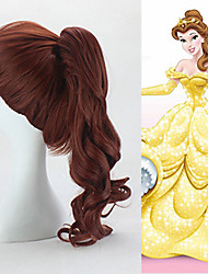 Sleeping Beauty Princess Aurora Wig Long Curly Brown Color Anime Cosplay Wigs