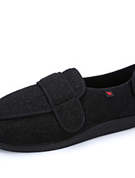 Men's Shoes for Patients with diabetes mellitus or pedal edema /  Wool Fleece Upper & rubber foam outsole is comfortable